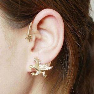 Jewelry - ARRIVED! Single Left Ear Unicorn Stud Wrap Earring